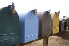 Seite-Straße Mailboxes Stockbilder