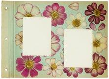 Seite vom alten Fotoalbum, scrapbooking Element Lizenzfreies Stockbild