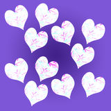 Seite von Herzen Stockbild