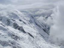 Seite von Mont Blanc Lizenzfreie Stockfotografie