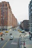 Seiten- 10. Allee Manhattans New York nach Westen Stockbild