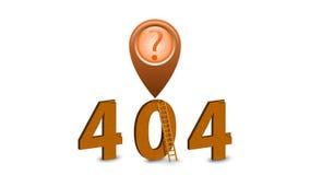 Seiten-Animationsikone mit 404 Fehlern Alpha Channel 60 fps