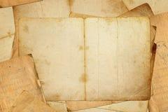 Seiten des alten Buches Stockbild