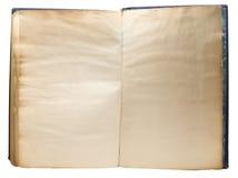 Seiten des gelben Buches Stockbild