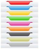 Seiten-Kennsätze oder Marken eingestellt Stockbild