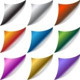 Seiten-Rotation-Set vektor abbildung