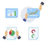 Seiten von statistischen und analytischen Informationen Lizenzfreies Stockbild