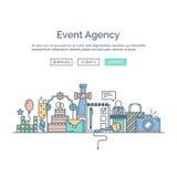 Seiten-Webdesignschablone der Organisation eine der Ereignisse und der speziellen Gelegenheiten lizenzfreie abbildung