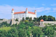 Seitenansicht Bratislava-Castle Stockfotos