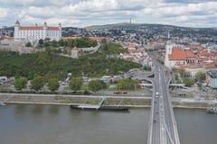 Seitenansicht Bratislava-Castle Lizenzfreies Stockbild