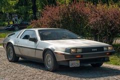 Seitenansicht DeLorean DMC-12 Lizenzfreies Stockfoto