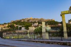 Seitenansicht der Akropolises im Sommer Lizenzfreie Stockfotografie