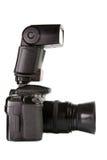 Seitenansicht der professionellen digitalen Fotokamera Lizenzfreie Stockfotos