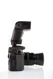Seitenansicht der professionellen digitalen Fotokamera Lizenzfreie Stockfotografie