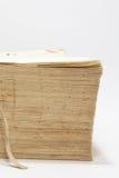 Seitenansicht des alten Buches mit Gelben Seiten Lizenzfreie Stockbilder