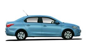 Seitenansicht des blauen Autos Stockfoto