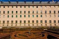 Seitenansicht des königlichen Standorts von San Lorenzo de El Escorial stockfotografie