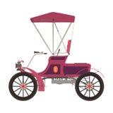 Seitenansicht des königlichen Wagens des Vektors flachen rosa Lizenzfreie Stockbilder