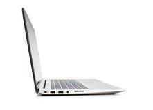 Seitenansicht des modernen Laptops. Stockfotografie