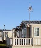 Moderne Wohnwagen in der Wohnwagensiedlung Lizenzfreie Stockfotografie