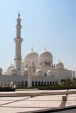 Seitenansicht des Scheich-Zayed Mosque Stockfotos