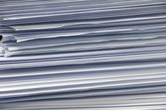 Seitenansicht des Stapels Büropapiers Lizenzfreies Stockbild