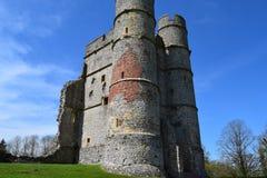 Seitenansicht Donnington-Schloss-(vorderes,) - Newbury Stockbild