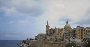 Seitenansicht La-Vallettas lizenzfreies stockfoto