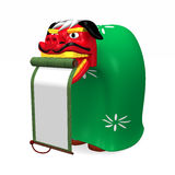 Seitenansicht Lion Dance Which Adds Rolls Stockbilder