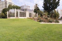 Seitenansicht mit Succulents, das Palmen-Haus, Adelaide Botanic Gard Stockfotografie