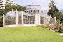 Seitenansicht mit Succulents, das Palmen-Haus, Adelaide Botanic Gard Lizenzfreies Stockbild