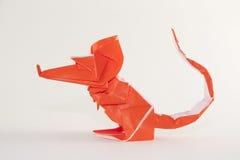 Seitenansicht origami Maus Stockbild