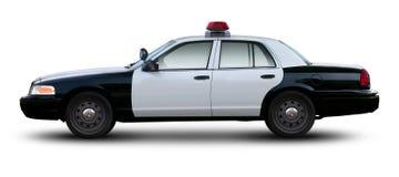 Seitenansicht Polizeiwagenfurtkronenvictorias Stockfotografie