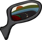 Seitenansicht-Spiegel lizenzfreie abbildung