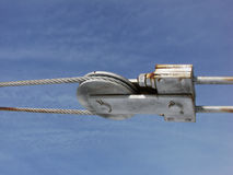 Seitenansicht-Stahlspanndraht Lizenzfreie Stockfotos