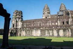 Seitenansicht von Angkor Wat Lizenzfreies Stockbild