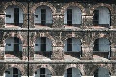 Seitenansicht von einem der Flügel im Hafen Blair Cellular Jail, stockfotografie