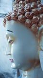 Seitenansicht von Lord des Buddha-Statuenhintergrundes Stockfotografie