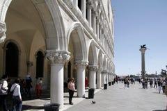 Seitenansicht von Palazzo Ducale, Venedig, Italien Lizenzfreie Stockfotos