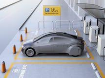 Seitenansicht von Selbst das Auto fahrend verfügbar für das Teilen stock abbildung