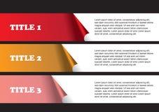 Seitenaufstellungs-Design von ziehen weg Aufklebern ab Stockfotografie
