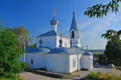 Seitenfläche der Kirche der Ankündigung von der gesegneten Jungfrau auf Kathedralenquadrat in Kasimov-Stadt, Russland Stockbilder
