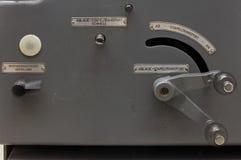 Seitenkonsole einer Druckenpresse Stockfotos