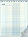 Seitennotizblock. Heftiger Rand. Blatt einer gewundenen Montierung. Stockbild