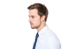 Seitenprofil des Geschäftsmannes Lizenzfreies Stockfoto
