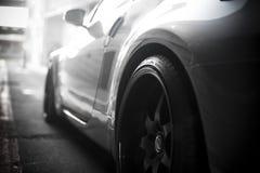 Seitenprofilsportauto stockbilder