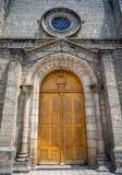 Seitentüreingang zur Kathedrale von Guaranda Stockfotografie