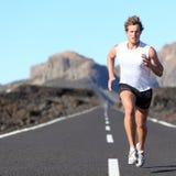 Seitentrieb, der für Marathon läuft Stockfoto