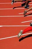 Seitentriebe beim Anfang eines Rennens Stockbilder