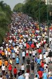 Seitentriebe der Stadt Màlaga-städtischen Rennens 2007 Stockfotografie